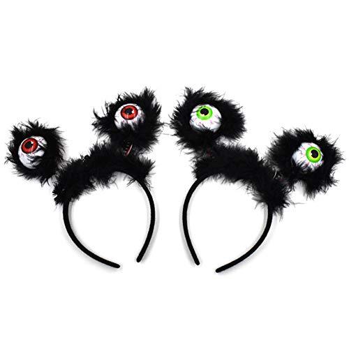 Bainuojia Feiertags-Dekoration Luminous Augapfel Stirnband Haarband Kostüm Zubehör Party Favors für Halloween (zufällige Farbe) (Farbe : As Shown, Größe : 23 * 23 * 4cm)
