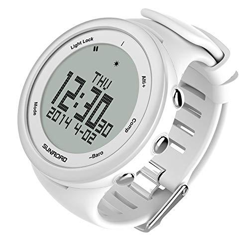 LQQZZZ Männer Digitale Sportuhr, Wasserdicht Berg Uhr Mit Barometer Höhenmesser Und Schrittzähler Funktion Kompass Backlit Smart-Uhren