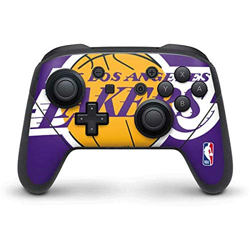 Skinit Decal Gaming Skin Compatible with Nintendo Switch Pro Controller - Officially Licensed NBA Los Angeles Lakers Large Logo Design