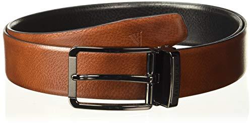 Van Heusen Men's Leather Belt (VHBLERGFF000012_Black_X-Large)