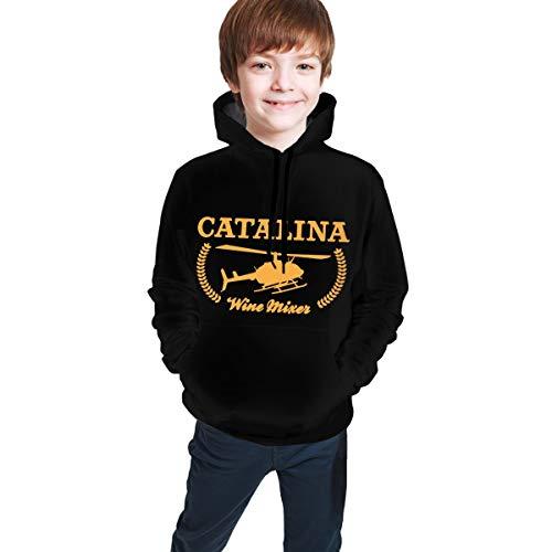 Nicht zutreffend Catalina Wine Mixer Jungen Mädchen Modische lange Ärmel Kapuze Teen Sweatshirt Tops Gr. S, Schwarz