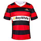 JFIOSD 2020-2021 New Zealand Canterbury Rugby Jersey,Outdoor Sports Rugby Uniform,Summer T-Shirts,Femmes Loisirs Sweat-Shirts,Rouge,5XL