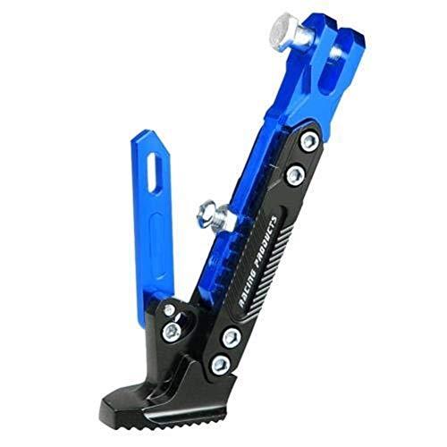 LITOSM Caballete Bicicleta,Pata de Cabra Bicicleta Ajustable de Metal del CNC de la Motocicleta del pie Pata de Cabra Vehículos eléctricos Soporte del Retroceso Lateral Ajustable (Color : Blue)