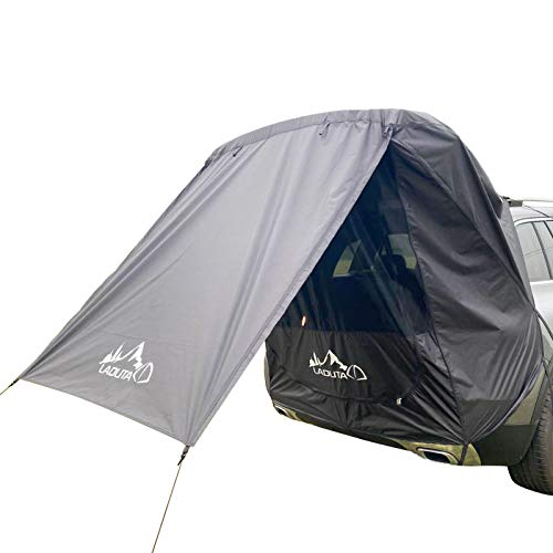 XIAOTIAN Car Trunk Tent, Car Awning Sun Shelter, Portable Rainproof Auto Canopy Camper Tail Extension Tent, For Self-Driving Tour Barbecue, Camping, Outdoor and Beach
