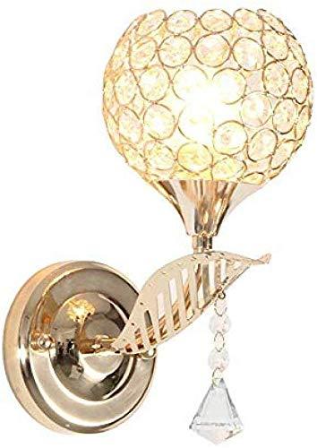 Meixian Wandlamp, led-kristal, Europese stijl, E27-spiegel, voorlampen, gang, trappen, gang, badkamer, decoratie, eenvoudig retro