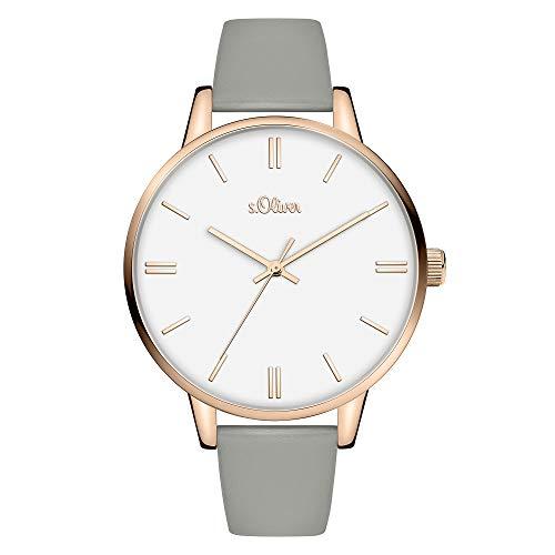 s.Oliver Damen Analog Quarz Uhr mit Kunststoff Armband SO-3971-LQ
