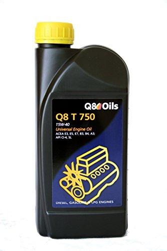 Bidón 5litros de aceite motor Q8T 75015W40Ref. 101155201616
