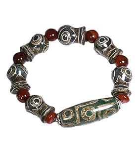 ZHIBO Tibetanischer alter Achat Dzi Perlen Armreif Armband Schmuck