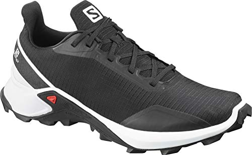 Salomon Alphacross, Zapatillas de Trail Running para Hombre, Negro (Black/White/Monument), 42 2/3 EU