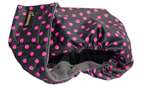Glenndarcy Hundewindeln - OHNE SCHWANZLOCH - für z.B FRENCHIES und Bulldoggen - Black Pink Dots Medium Pants only