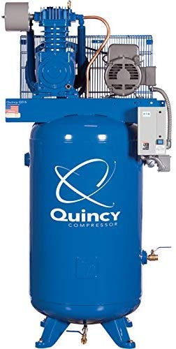For Sale! Quincy QT-5 Splash Lubricated Reciprocating Air Compressor with PRO Package, 5 HP, 1 Phase...
