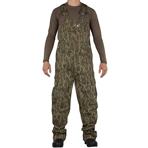 Mossy Oak Men's Cotton Mill 2.0 Camouflage Hunting Bib Overall