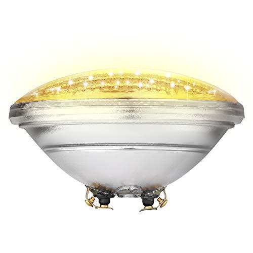 COOLWEST Luces de la piscina LED PAR56 18W Blanco cálido 3000K Iluminación de piscinas 12V Luminarias subacuáticas IP68 impermeables, Reemplazar bombillas halógenas de 150W
