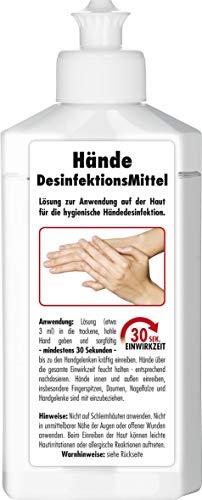SONAX Handdesinfektionsmittel (250 ml) schützt gegen Bakterien & Viren für hygienische & wirksame Händedesinfektion - Made in Germany