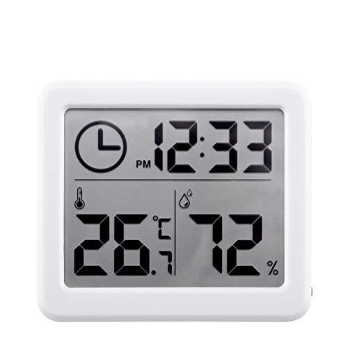 Cestbon Digitales Thermometer Hygrometer, Digital Thermo-Hygrometer HD-Anzeige Thermometer Hygrometer Tragbares Temperatur Luftfeuchtigkeit Zur Raumklimakontrolle,Weiß