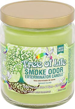 Smoke Odor Exterminator 13 oz jar Candle, Tree of Life Limited Edition