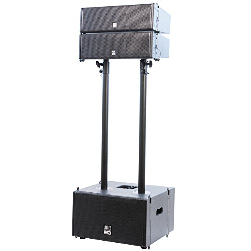 Altec Lansing ALX-2824LA Ultra Powerful 2000W Peak Adjustable Portable Pro Audio Dual Stacked Line Array Sound and Speaker System