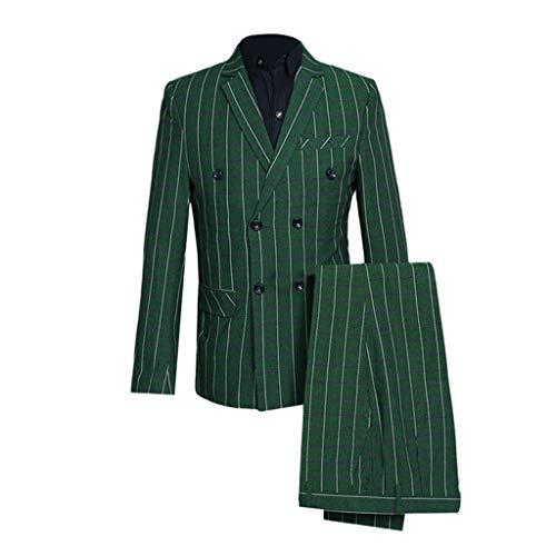 SUMTTER 3 Teilig Anzug Herren Kariert Sakko Retro Vintage Blazer mit Anzugjacke Hose und Weste für Hochzeit Party Business