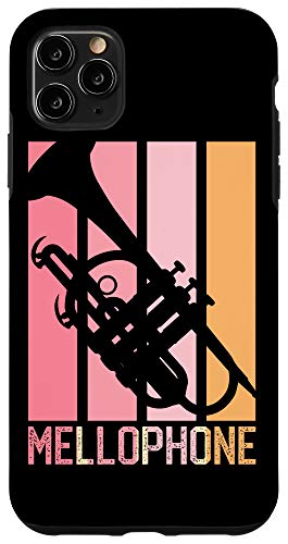 iPhone 11 Pro Max Mellophone Vintage Pink Retro 70s 80s Style for Mom Black Case
