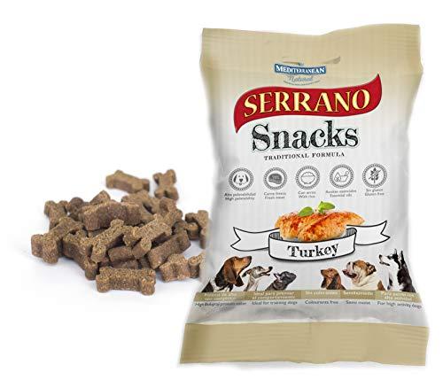 MEDITERRANEAN NATURAL Set de Snacks Serrano, Pavo, 100 g, Perro