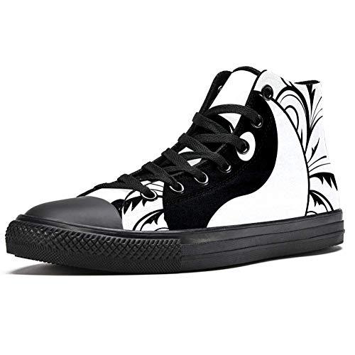 Lorvies Religion Ying Yang Tao Zen chinesische Kultur Sneaker aus Segeltuch für Männer Sportschuhe, - mehrfarbig - Größe: 42 EU