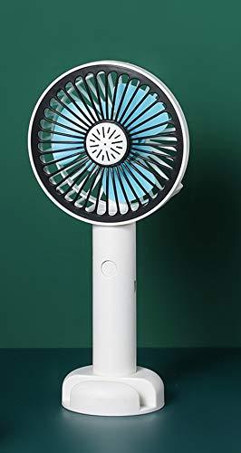 Queta Ventilador de Viaje, Mini Ventilador USB, Ventilador de Mesa Silencioso con 2 Velocidades Ajustables, Plegable Ventilador de Mano para Hoga, Con función de apoyo/Caja de aromaterapia