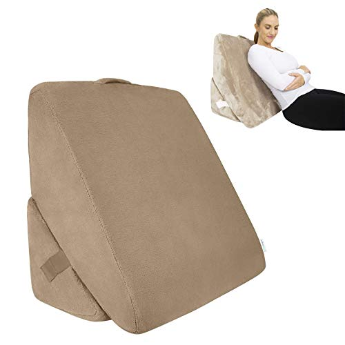 ZHHB Bed Wedge Pillow Folding Memory Foam Reading Pillow Support Cushion for Back, Leg And Knee Prop Up, for Relaxing, Gaming, Reading, Or Watching TV