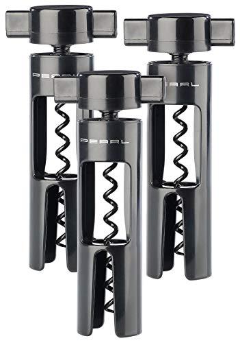 PEARL Weinflaschenöffner: Smart Korkenzieher mit Spezial-Spirale,minimaler Kraftaufwand,3er Set (Korken-Flaschenöffner)