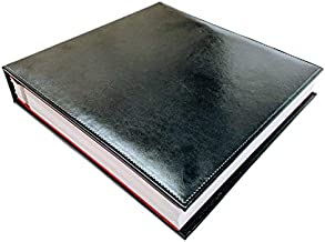 Self adhesive photo album, Vegan Black Leather, 100 pages 50 sheets, Scrapbook, Wedding, Magnetic sheet, Self Stick, 5x7, 8x10, 4x6, Picture, Family, Large, Travel, Vacation, Professional