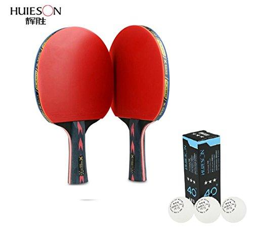 5estrellas tenis de mesa raqueta doble Shot carbono King en la Beat tenis de mesa Paddle, long