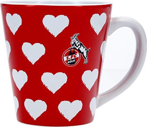 1. FC Köln Tasse Herzen 0,3 Liter rot