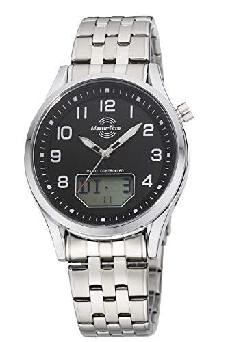 Master Time Reloj analógico digital para hombre de cuarzo con correa de acero inoxidable MTGA-10717-21M