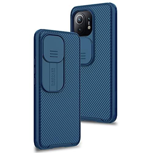 Funda para Xiaomi Mi 11, Protección de la cámara Carcasa Cubierta de cámara Deslizante Proteger Ultra-Delgado Híbrida PC Anti-Choque Anti-arañazos - Azul