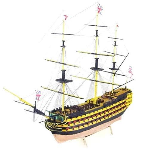 XIUYU Wohnzimmerdekorationen aus Holz Modellschiff Kit Schiff Versammlungs-Modell Primär Version Segelboot Modellbausätze Maßstab 1/200 HMS Victory Schiffsmodell