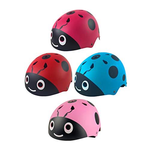 LIOOBO 1 Pc Cartoon Mini Cute Plastic Child Helmet Tamaño Libre Bicicleta...