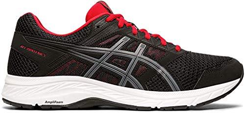 ASICS Men's Gel-Contend 5 (4E) Running Shoes, 9.5XW, Black/Metropolis