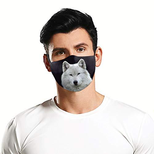 bobo4818 Cosplay Mode Tiere Gedruckt Waschbare Staubdichte Männer und Frauen Weich mit Nasenbügel Chlicht Enganliegend (White)