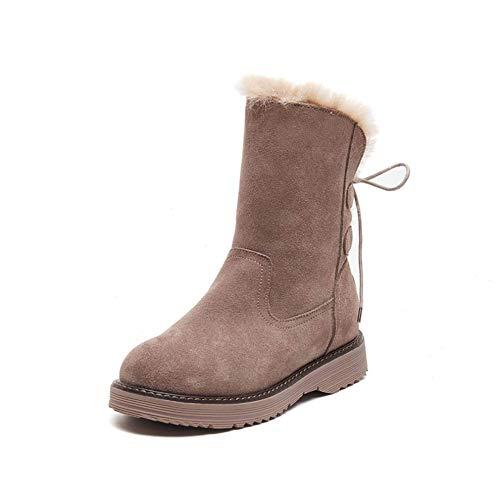 GYPPG Botas de Nieve para Mujer Invierno Impermeable Resistente a la Nieve Cómodas Botas de Felpa cálidas Botas de Moda Senderismo al Aire Libre Zapatos de Trabajo
