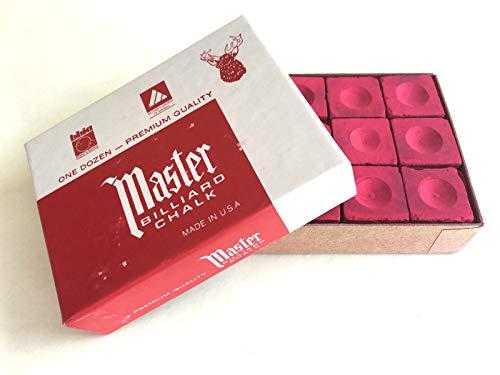 Billard-Kreide Master Rot 12-er