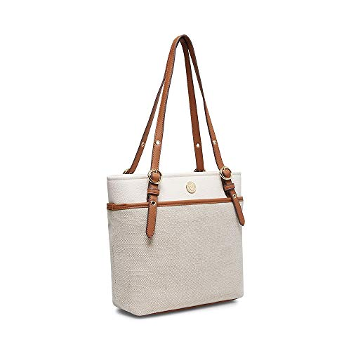 Anne Klein Pocket Tote Natural One Size