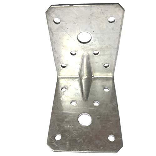 Soportes de esquina placas, conectores angulares, ángulo de madera resistente, L chapa de acero galvanizada, paquete de 4 (70 x 70 x 55 x 2,5 mm)