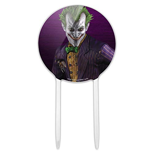 Batman Arkham Asylum Video Game Joker Acrylic Cake Topper Party Decoration for Wedding Anniversary Birthday Graduation