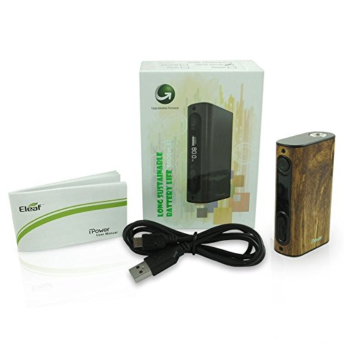 Eleaf iPower 80W TC Box Mod Batteria 5000 mah Colore Wood-Grain Prodotto Senza Nicotina