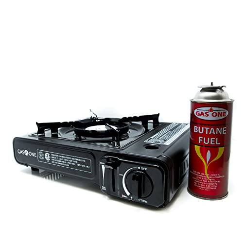 Gas ONE GS-3000 Portable Gas Stove with Carrying Case, 9,000 BTU, CSA Approved, Black 3