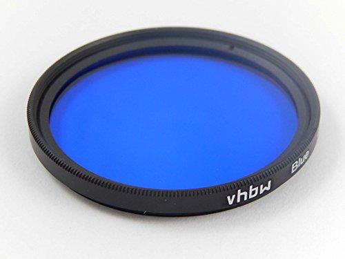 vhbw Universal Farbfilter blau kompatibel mit Kamera Objektiven mit 62mm Filtergewinde - Blaufilter