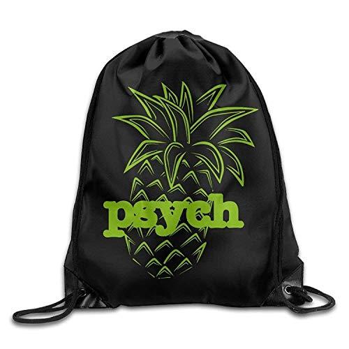 Etryrt Prämie Turnbeutel,Sporttaschen, Psych Pineapple Drawstring Backpack Beam Mouth School Travel Backpack Shoulder Bags for Men & Women