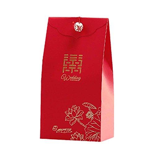 Panda Legends 40 Pcs Coffrets Cadeaux De Mariage Rouges...