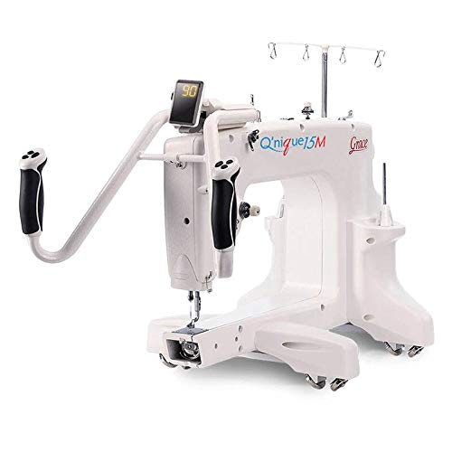 Grace Q'Nique 15M Manual Long Arm Quilting Machine with Q-Zone 4.5 Foot Hoop Frame