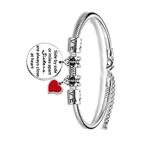 Pulsera de serpiente de plata ajustable para mujer y niña, regalo de hermanas