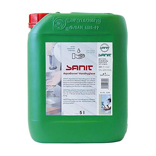SANIT AquaDecon Handhygiene (5 Liter) bekämpft Viren, Bakterien, Pilze u.v.m, ph-neutral, reizfrei und hautschonend